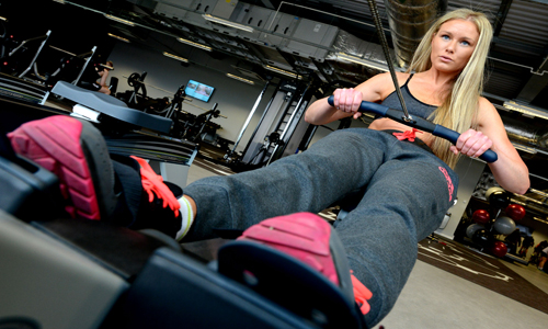 Rowing machine at Newark Sports and Fitness Centre