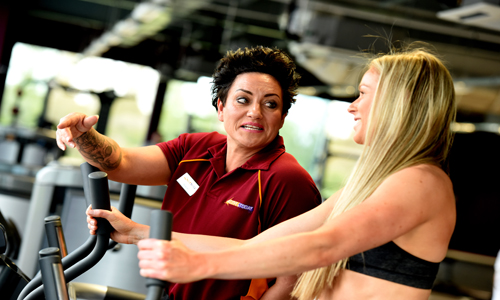 Help from Gym Instructor at Newark Sports and Fitness Centre